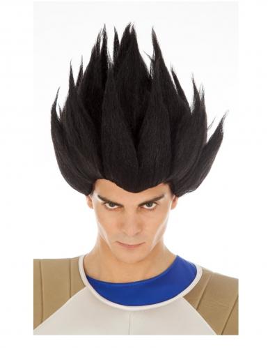 Parrucca di Vegeta nera Dragon Ball™ per adulto