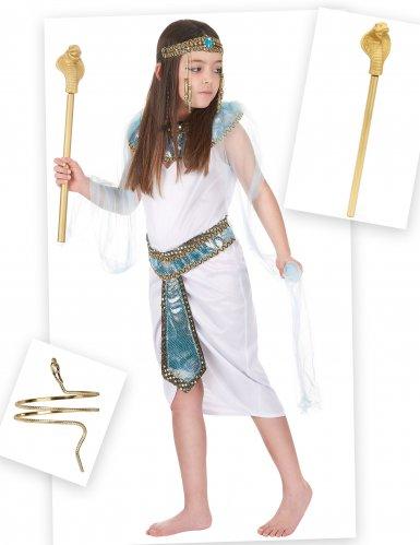 Set Costume da Egiziana per bambina con bracciale e scettro