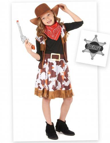 Set Costume da Cowgirl per bambina con accessori