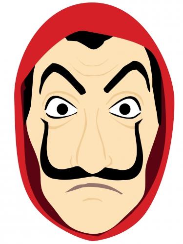 Maschera in cartone da bandito adulto