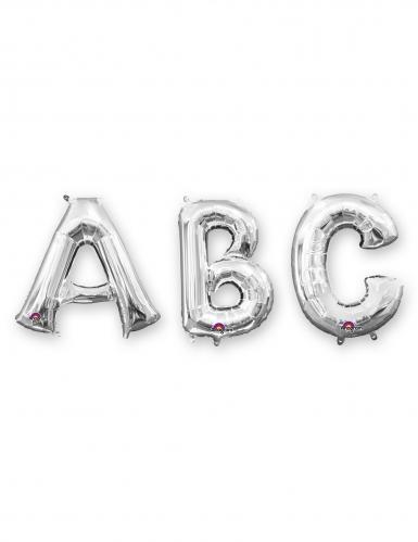 Palloncino lettera in alluminio argento 86 cm