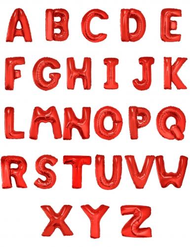 Palloncino lettera in alluminio rosso 1 m-1