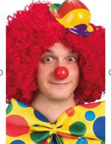 Mini cappello di plastica clown per adulto-1