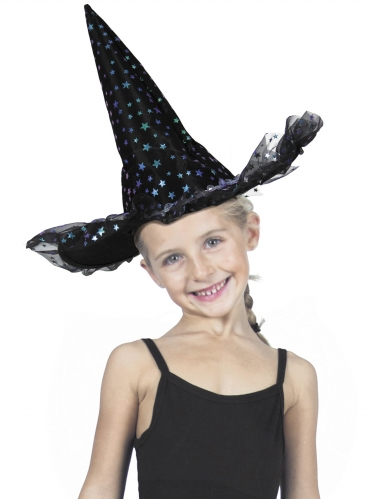 Cappello da strega con stelline bambina