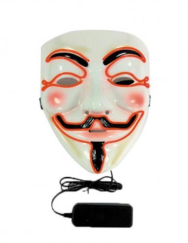 Maschera led anonymous adulto