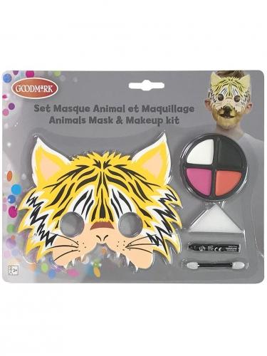 Set maschera e trucco tigre per bambino