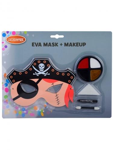 Maschera e trucco pirata per bambino
