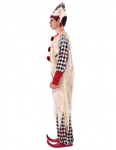 Costume giullare insanguinato adolescente-1