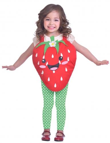 Costume da dolce piccola fragola per bambina