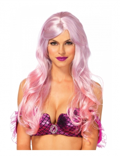 Parrucca lusso rosa sirena per donna
