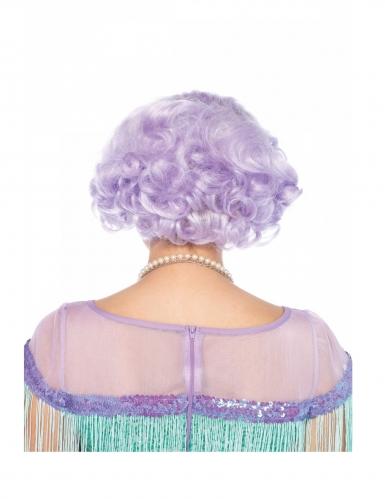 Parrucca lusso corta lavanda donna-1
