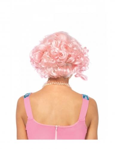 Parrucca lusso corta e rosa donna-1