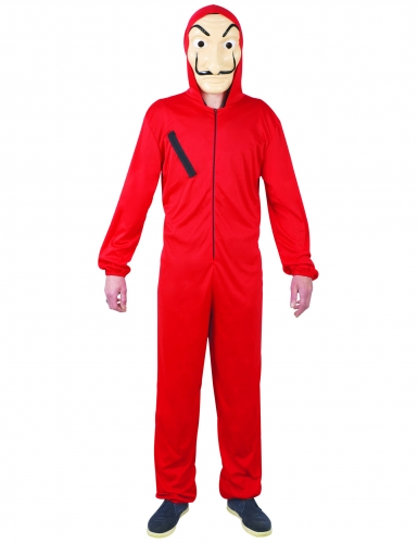 Costume tuta rossa da adolescente ladro