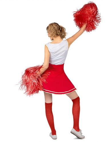 Costume pompon girl USA rosso donna-2