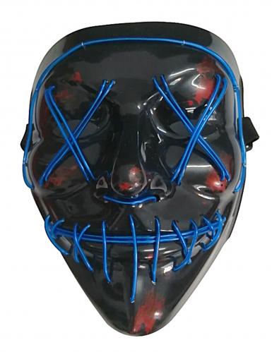 Maschera led luminosa blu adulto-1