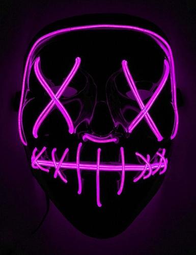 Maschera led luminosa fucsia adulto