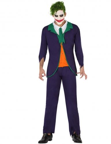 Costume da giullare sociopatico per uomo