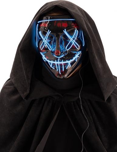 Maschera led notte dell'orrore per adulto
