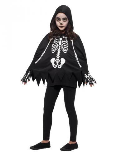 Poncho scheletro bambino