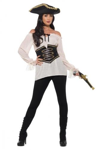 Camicia avorio da pirata per donna
