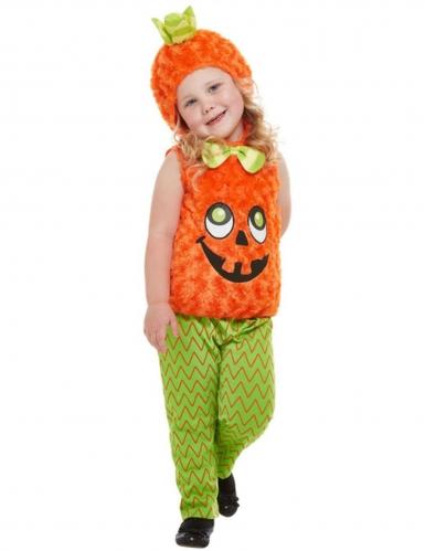 Costume da zucca peluche per bambina