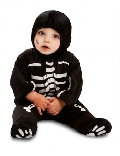 Costume da piccolo scheletro nero bebe