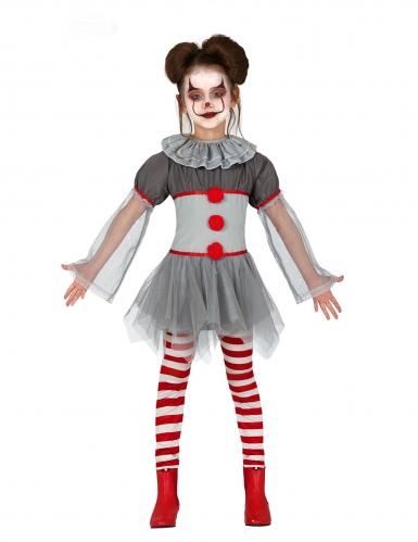 Costume da clown psicopatico con legging bambina