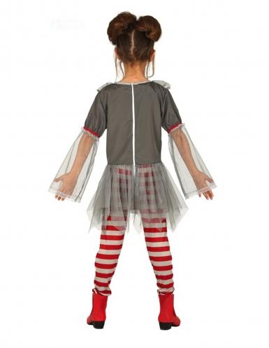 Costume da clown psicopatico con legging bambina-1