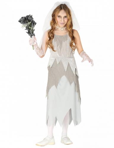 Costume sposa fantasma in grigio bambina