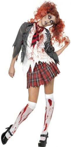 Set Costume scolaretta zombie per donna-1