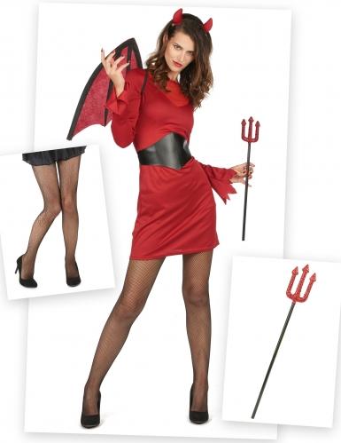 Set costume e accessori da diavolo per donna