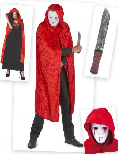 Set costume Assassino sanguinante adulto