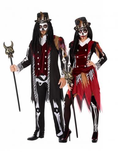 Costume di coppia stregoni voodoo adulto