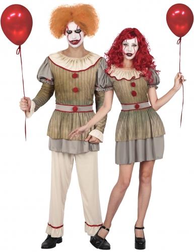 Costume di coppia clown psicopatico adulto