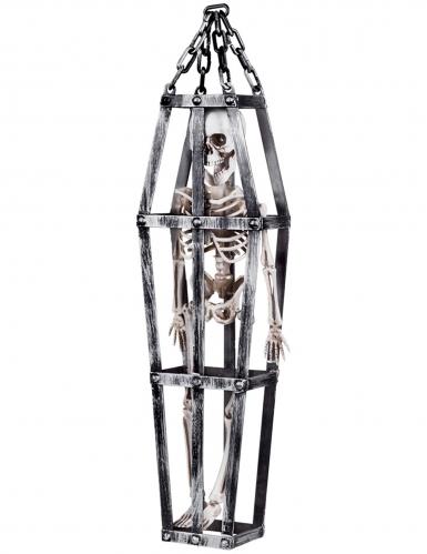 Decorazione da sospendere scheletro in gabbia