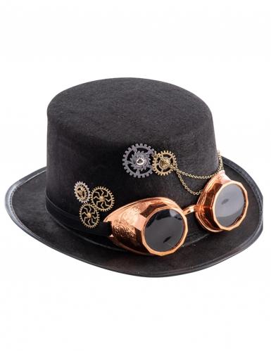 Cappello a cilindro steampunk con occhiali adulto-1