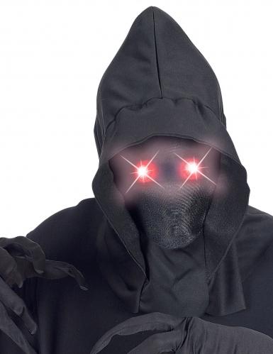 Maschera integrale con cappuccio occhi luminosi adulto-1
