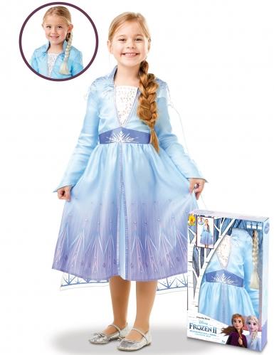 Cofanetto costume e treccia di Elsa Frozen 2™ bambina