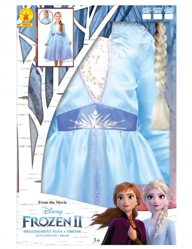 Cofanetto costume e treccia di Elsa Frozen 2™ bambina-4