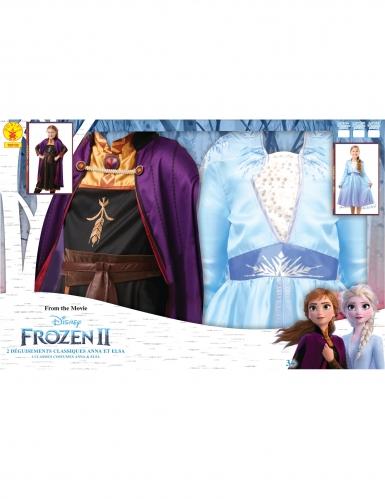 Cofanetto regalo costume Elsa e Anna Frozen 2™ bambina-2
