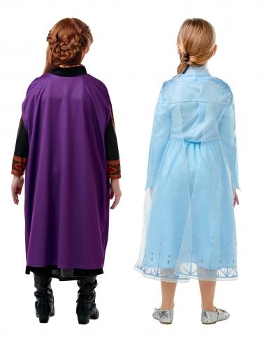 Cofanetto regalo costume Elsa e Anna Frozen 2™ bambina-1