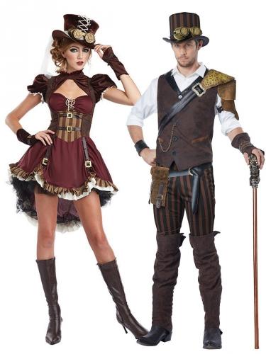 Costume di coppia avventurieri steampunk adulto