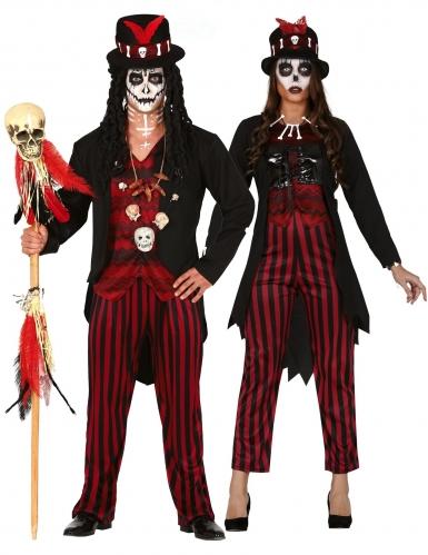 Costume di coppia sacerdoti vudu per adulto