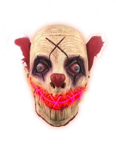 Maschera lattice luminoso clown adulto
