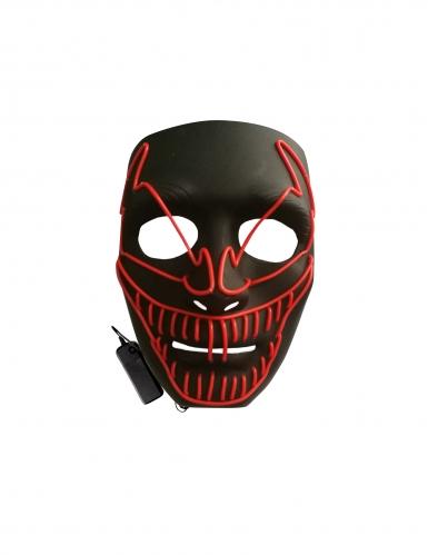 Maschera deluxe led clown terrificante adulto