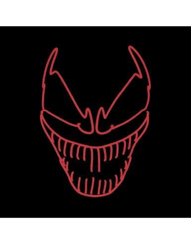Maschera deluxe led clown terrificante adulto-1