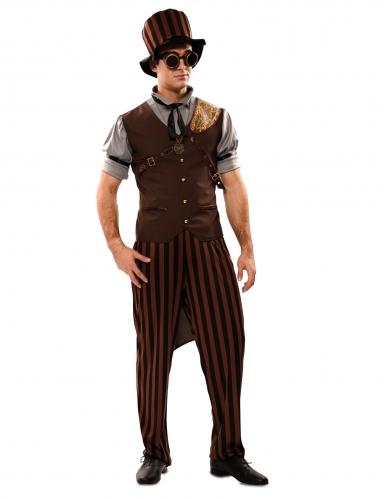 Costume steampunk uomo con cappello-2