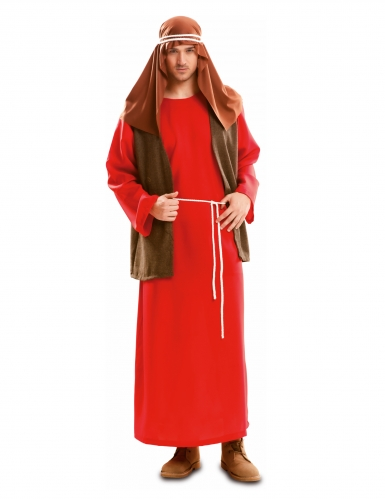 Costume rosso da Giuseppe per uomo