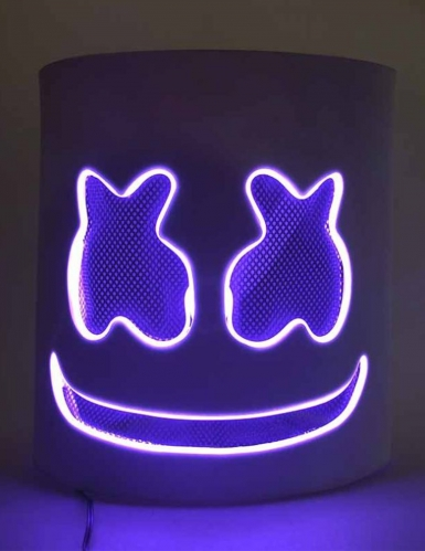 Maschera da Marshmellow led viola per adulto