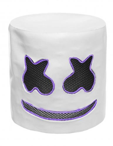 Maschera da Marshmellow led viola per adulto-3